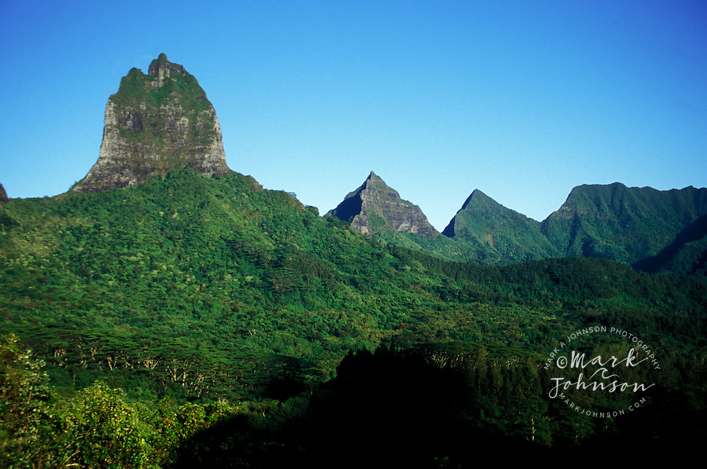 "View from ""Belvedere"" of Moua Roa, Moorea, French Polynesia"