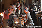 The Blacksmiths at Colonial Williamsburg.