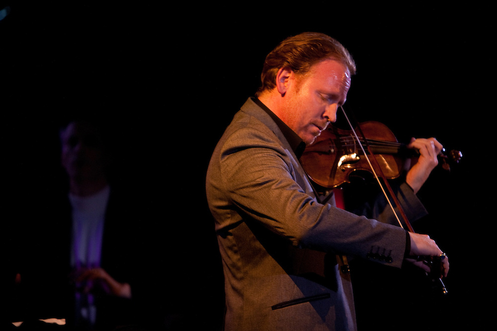 Violinist Daniel Hope performing at Le Poisson Rouge with tenor Joseph Calleja on October 24, 2011.