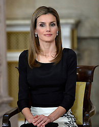 18.06.2014, Royal Palace, Madrid, ESP, Abdankung König Juan Carlos, Unterzeihnung der Abdankungspapiere, im Bild Princess Letizia of Spain // during the official abdication ceremony at the Royal Palace in Madrid, Spain on 2014/06/18. EXPA Pictures © 2014, PhotoCredit: EXPA/ Alterphotos/ Pool<br /> <br /> *****ATTENTION - OUT of ESP, SUI*****