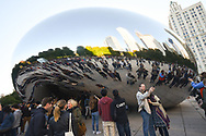 The Cloud Gate in Grant Park. Chicago, Illinois