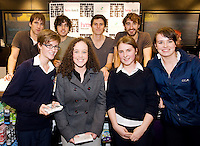 HMV welcomed The Coronas to HMV Galway  for a live performance and to sign copies of their highly anticipated third album Closer To You and met Aoife Keady, Furbo , Kathlyn Davy,  Roscahill Jessica Greaney Barna and Ela Dowling Furbo. Photo:Andrew Downes.