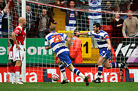 Photo: Tom Dulat.<br /> <br /> Charlton Athletic v Queens Park Rangers. Coca Cola Championship. 27/10/2007.<br /> <br /> Adam Bolder(7) of Queens Park Rangers celebrates scoring first goal of the game. QPR leads 1-0