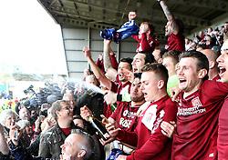 Northampton Town celebrate winning promotion to League One - Mandatory by-line: Robbie Stephenson/JMP - 09/04/2016 - FOOTBALL - Sixfields Stadium - Northampton, England - Northampton Town v Bristol Rovers - Sky Bet League Two