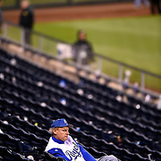 Brian Nevius of Jamestown, Mo, sat alone in the Kauffman Stadium seats long after the Royals' 3-2 loss in Game 7 to the San Francisco Giants on October 30, 2014 at Kauffman Stadium in Kansas City, Mo. The Giants won, 3-2.