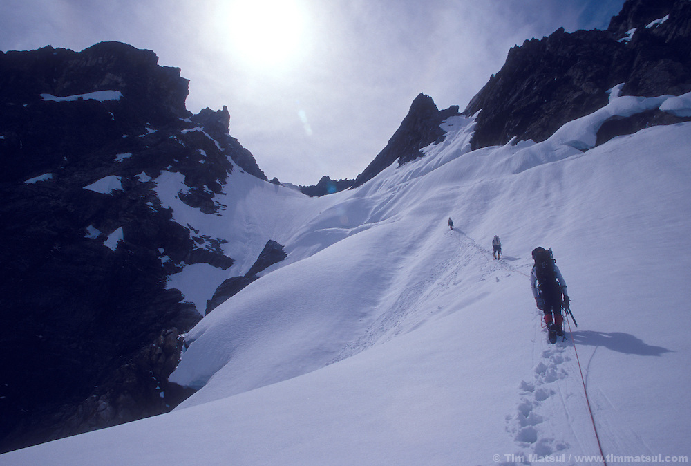 Climbing in the North Pickets, North Cascades National Park.