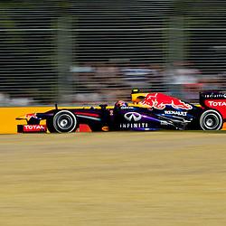 F1 Australian Grand Prix 15 March 2013 Practice Session 2.Practice Session 2. Mark Webber Infiniti Red Bull Racing turn 7.(c) MILOS LEKOVIC | StockPix.eu