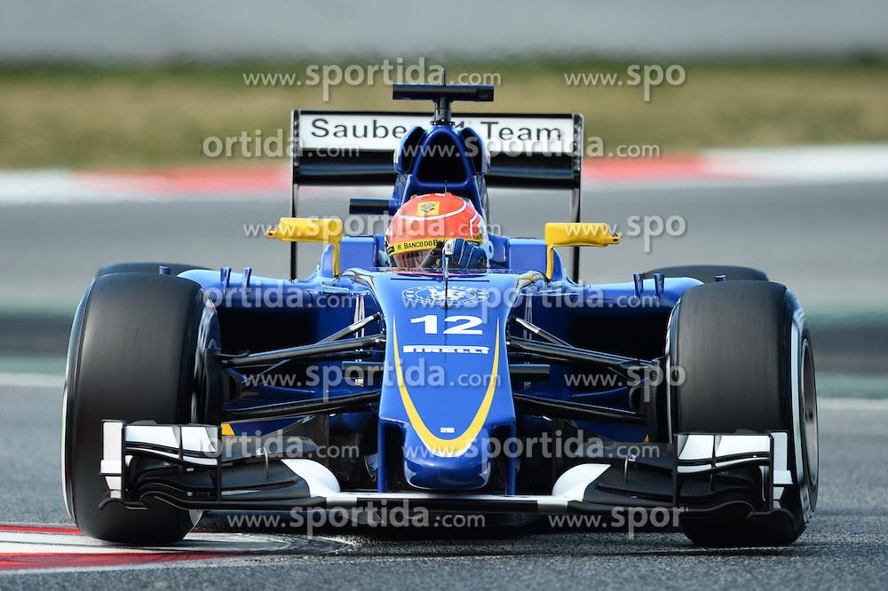 27.02.2015, Circuit de Catalunya, Barcelona, ESP, FIA, Formel 1, Testfahrten, Barcelona, Tag 2, im Bild Felipe Nasr (BRA) Sauber C34 // during the Formula One Testdrives, day two at the Circuit de Catalunya in Barcelona, Spain on 2015/02/27. EXPA Pictures &copy; 2015, PhotoCredit: EXPA/ Sutton Images/ Patrik Lundin Images<br /> <br /> *****ATTENTION - for AUT, SLO, CRO, SRB, BIH, MAZ only*****