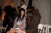 christina Aguilera and Liv Tyler, Givenchy couture show, Julian Macdonald's last ( ?)  Paris, 20 January 2004. © Copyright Photograph by Dafydd Jones 66 Stockwell Park Rd. London SW9 0DA Tel 020 7733 0108 www.dafjones.com