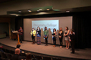 Faculty and staff of University College presents awards to students at their Honors Ceremony held in the Athena Cinema on Monday, April 27.