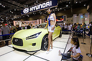 Seoul Motor Show 2005 at Korea International Exhibition Center (KINTEX). Hyundai HCD-8 sports car.