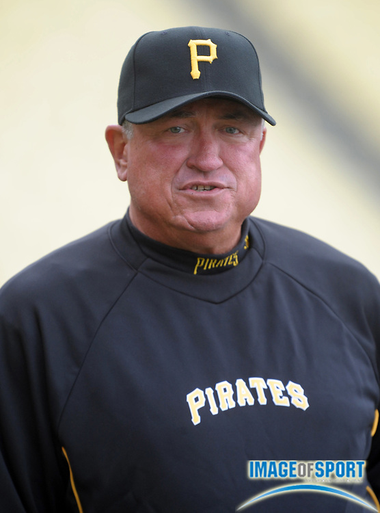 Apr 11, 2012; Los Angeles, CA, USA; Pittsburgh Pirates manager Clint Hurdle before the game against the Los Angeles Dodgers at Dodger Stadium.