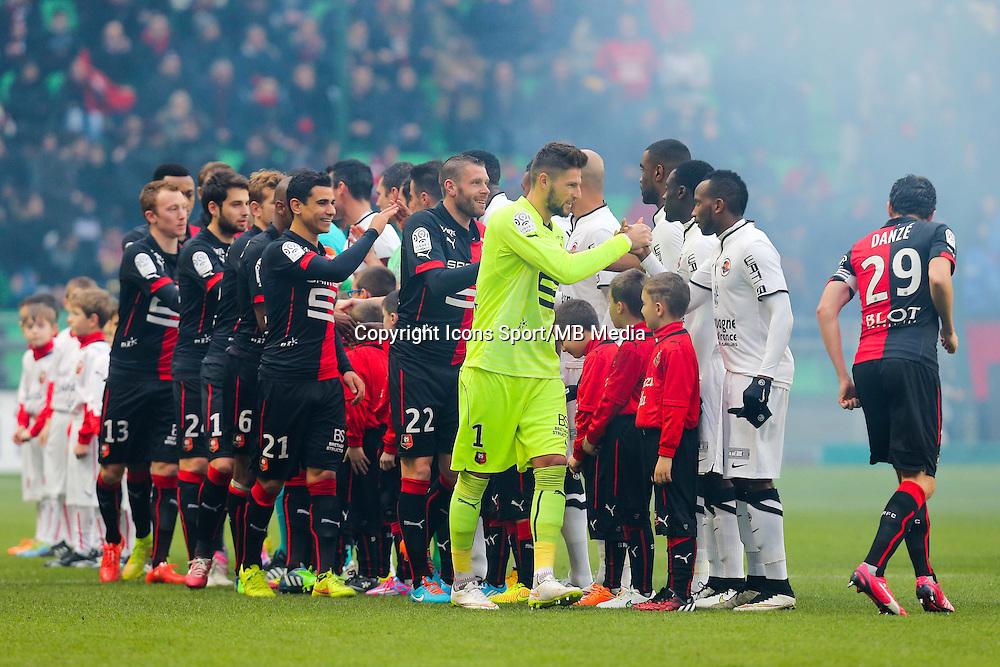 Protocole Avant Match  - 25.01.2015 - Rennes / Caen  - 22eme journee de Ligue1<br /> Photo : Vincent Michel / Icon Sport *** Local Caption ***