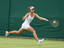 LONDON, ENGLAND - Monday, June 20, 2011: Varvara Lepchenko (USA) in action during the Ladies' Singles 1st Round on day one of the Wimbledon Lawn Tennis Championships at the All England Lawn Tennis and Croquet Club. (Pic by David Rawcliffe/Propaganda)