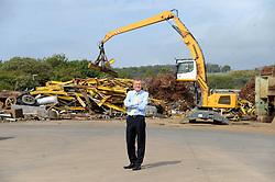 Willie Rennie, Inverkeithing, 12-5-2017<br /> <br /> Willie Rennie visited Robertson Metals Recycling LTD in Inverkeithing<br /> <br /> (c) David Wardle | Edinburgh Elite media