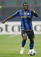 "Sulley Muntari (Inter)<br /> Milano 22/10/2008 Stadio ""Giuseppe Meazza"" <br /> Champions League 2008/2009<br /> Inter-Anorthosis (1-0)<br /> Foto Luca Pagliaricci Insidefoto"