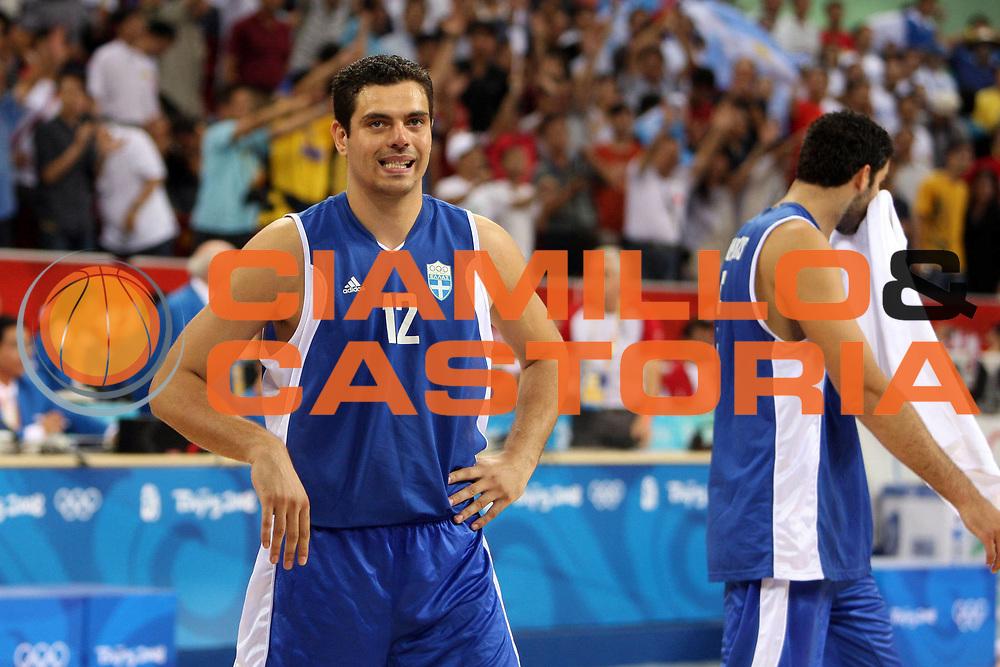 DESCRIZIONE : Beijing Pechino Olympic Games Olimpiadi 2008 Argentina Greece <br /> GIOCATORE : Kostas TSARTSARIS <br /> SQUADRA : Greece Grecia <br /> EVENTO : Olympic Games Olimpiadi 2008 <br /> GARA : Argentina Grecia Argentina Greece <br /> DATA : 20/08/2008 <br /> CATEGORIA : Delusione <br /> SPORT : Pallacanestro <br /> AUTORE : Agenzia Ciamillo-Castoria/E.Castoria <br /> Galleria : Beijing Pechino Olympic Games Olimpiadi 2008 <br /> Fotonotizia : Beijing Pechino Olympic Games Olimpiadi 2008 Argentina Greece <br /> Predefinita :