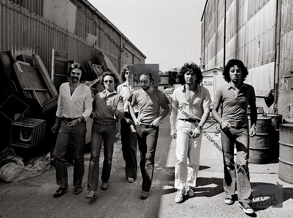 10cc location photosession at Shepperton Film Studios