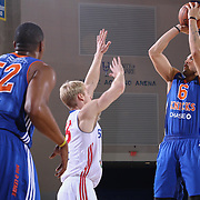 Westchester Knicks Forward SEAN MARSHALL (6) attempts a jump shot in the first half of a NBA D-league regular season basketball game between the Delaware 87ers and the Westchester Knicks  Saturday Dec, 26, 2015 at The Bob Carpenter Sports Convocation Center in Newark, DEL