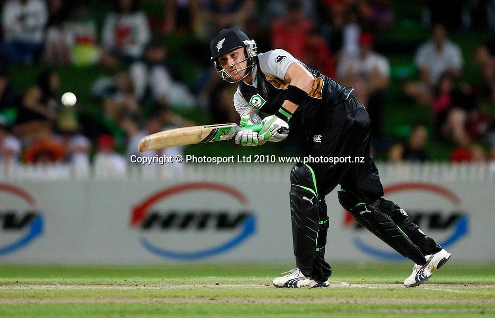 Blackcaps batsman Brendon McCullum. KFC Twenty20, New Zealand Blackcaps v Bangladesh, Seddon Park, Hamilton. Wednesday 3rd February 2010. Photo: Simon Watts/PHOTOSPORT
