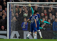 Football - 2019 / 2020 UEFA Champions League - Group H: Chelsea vs. Ajax<br /> <br /> Kepa Arrizabalaga (Chelsea FC) mis judges the flight of the corner and concedes a third goal at Stamford Bridge <br /> <br /> COLORSPORT/DANIEL BEARHAM