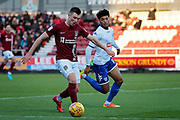 Northampton Town forward Chris Long (19) with a chance  during the EFL Sky Bet League 1 match between Northampton Town and Bury at Sixfields Stadium, Northampton, England on 25 November 2017. Photo by Nigel Cole.