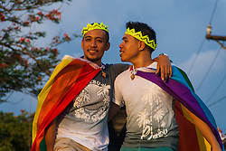 June 24, 2017 - Marikina, Philippines - Thousands marched through Marikina city Saturday afternoon to commemorate the annual Gay Pride March. On its 23rd year, the Philippines has the oldest pride march in Asia. (Credit Image: © J Gerard Seguia via ZUMA Wire)