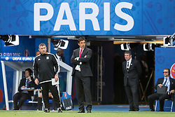 PARIS, FRANCE - Saturday, June 25, 2016: Wales manager Chris Coleman and assistant manager Osian Roberts look on during the Round of 16 UEFA Euro 2016 Championship match against Northern Ireland at the Parc des Princes. (Pic by Paul Greenwood/Propaganda)