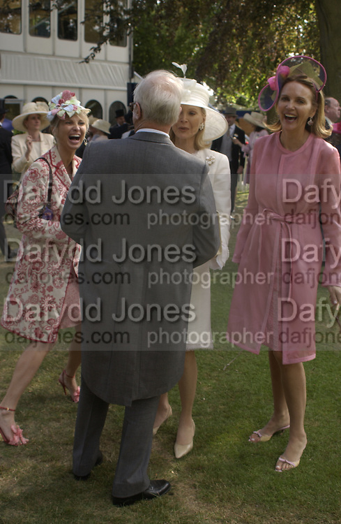 Princess Corinna Sayn-Wittgenstein, ; Winston Churchill; Mrs. Martin Gruss; Kate Elaessens; ,  Ascot, Tuesday 15 June 2004. ONE TIME USE ONLY - DO NOT ARCHIVE  © Copyright Photograph by Dafydd Jones 66 Stockwell Park Rd. London SW9 0DA Tel 020 7733 0108 www.dafjones.com