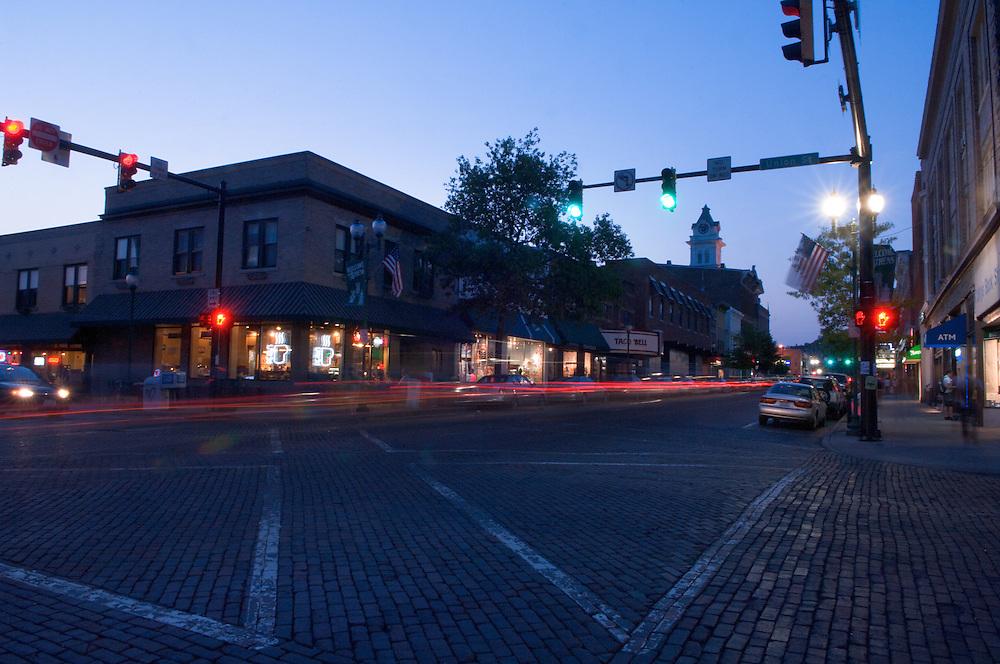 18254Campus Court Street at Night