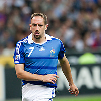 05 September 2009: French forward Franck Ribery is seen during the World Cup 2010 qualifying football match France vs. Romania (1-1), on September 5, 2009 at the Stade de France stadium in Saint-Denis, near Paris, France.