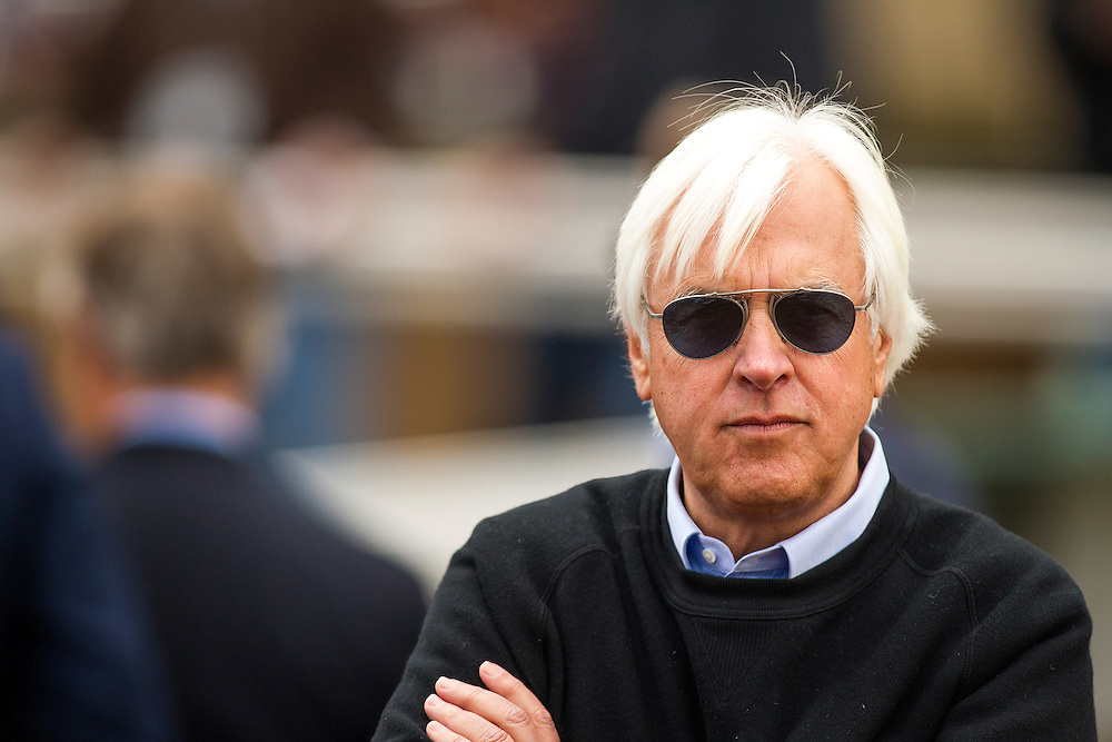 January 09, 2016: Trainer, Bob Baffert after his horses completed the exacta in the Sham Stakes at Santa Anita Park, Arcadia CA. Evers/ESW/CSM