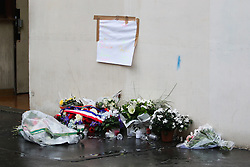 © Licensed to London News Pictures. 07/01/2016. Paris, France. Members of the public remember the killing of 7 cartoonists of the Charlie Hebdo Magazine in Paris on January 7th 2015 by 2 terrorists which sparked a manhunt that lasted 3 days. Today January 3rd 2016. Photo credit: Hugo Michiels/LNP