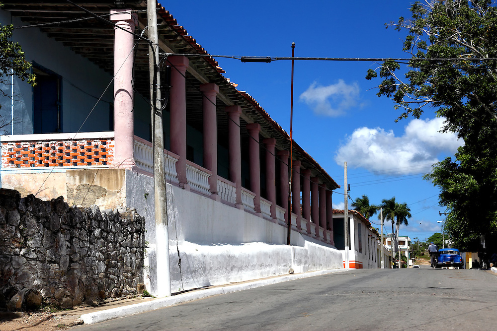 Street in San Diego de los Banos, Pinar del Rio, Cuba.