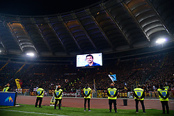 March 2, 2019 - Rome, Lazio, Italy - In memory of Davide Astori during the Italian Serie A football match between S.S. Lazio and A.S Roma at the Olympic Stadium in Rome, on march 02, 2019. (Credit Image: © Silvia Lore/NurPhoto via ZUMA Press)