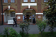 St. Saviour's Church, Herne Hill SE24 that serves as a temporary Polling station for voters on Britain's general election day.