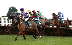Oh Land Albloom ridden by Jack Andrews (left) competes in the Start Your RacingTV Free Trial Now Handicap Hurdle during Midlands Raceday at Warwick Racecourse.