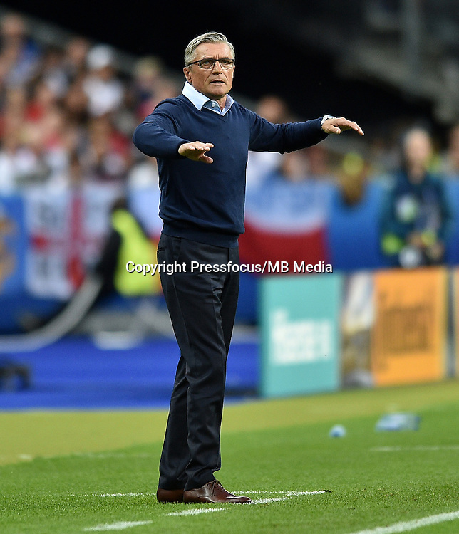 2016.06.16 Saint-Denis<br /> Pilka nozna Euro 2016<br /> mecz grupy C Polska - Niemcy<br /> N/z Adam Nawalka trener Head Coach<br /> Foto Lukasz Laskowski / PressFocus<br /> <br /> 2016.06.16 Saint-Denis<br /> Football UEFA Euro 2016 group C game between Poland and Germany<br /> Adam Nawalka trener Head Coach<br /> Credit: Lukasz Laskowski / PressFocus