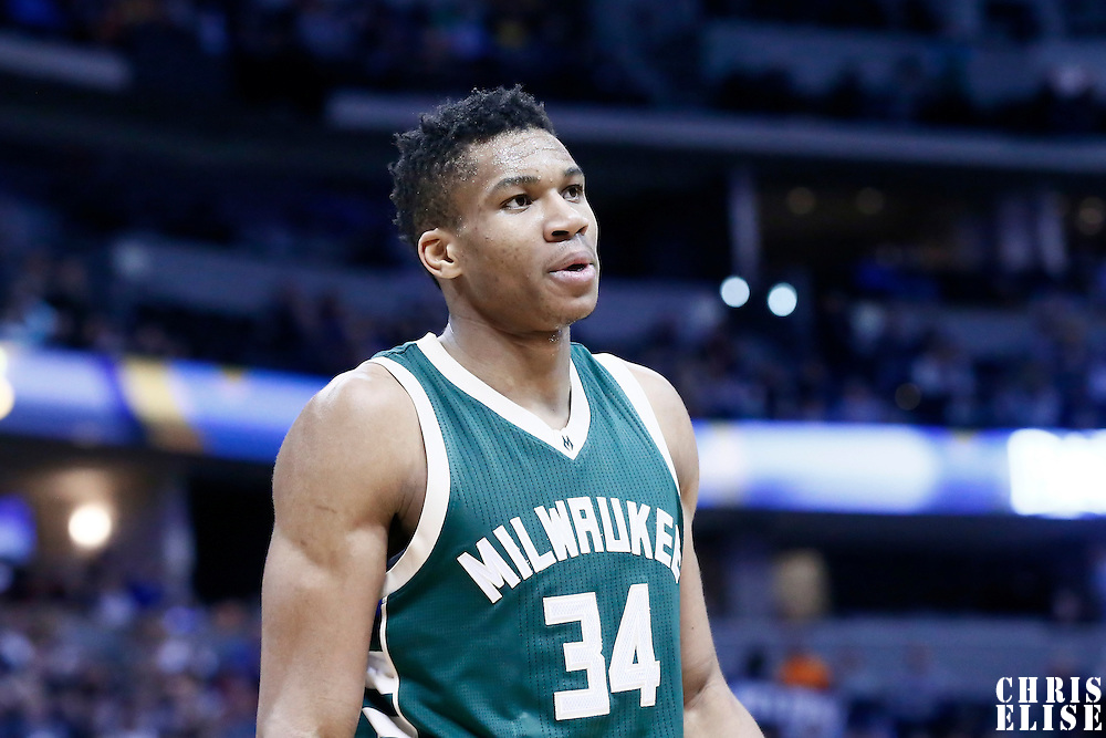 03 February 2016: Milwaukee Bucks forward Giannis Antetokounmpo (34) is seen during the Denver Nuggets 121-117 victory over the Milwaukee Bucks, at the Pepsi Center, Denver, Colorado, USA.