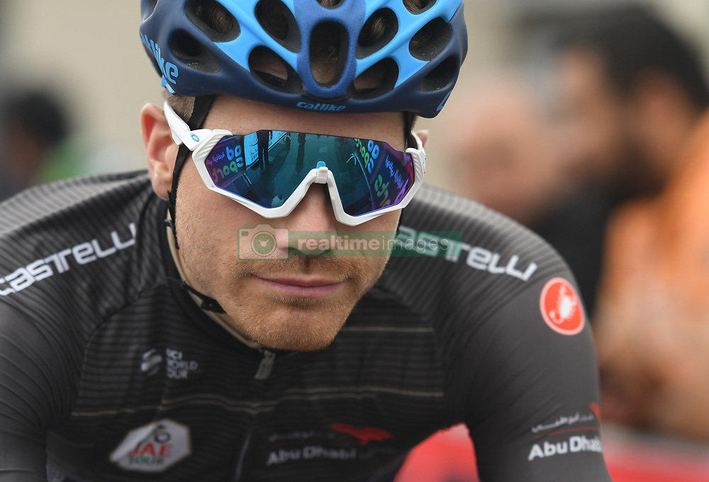 March 1, 2019 - Ajman, United Arab Emirates - The Black Jersey (Intermediate Sprint), Charles Planet of France and Team Novo Nordisk, , seen at the start line of the sixth Rak Properties Stage of UAE Tour 2019, a 180km with a start from Ajman and finish in Jebel Jais. .On Friday, March 1, 2019, in Ajman, Ajman Emirate, United Arab Emirates. (Credit Image: © Artur Widak/NurPhoto via ZUMA Press)