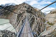 Fisheyefoto Triftbrücke die längste Hängebrücke der Alpen