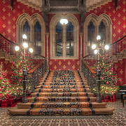 Staircases don't get any more decadent than the Gilbert-Scott designed Renaissance Staircase in the Midland Hotel, Kings Cross, London. Christmas just serves to increase the beauty.