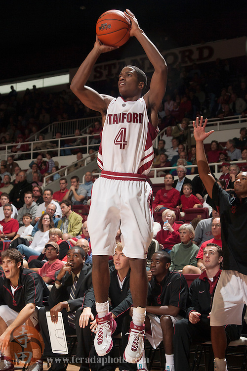 November 25, 2006; Stanford, CA, USA; Stanford Cardinal guard Anthony Goods (4) shoots the basketball during the game against the Denver Pioneers at Maples Pavilion. The Cardinal defeated the Pioneers 82-39.