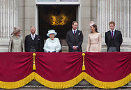 "CHANGING FACE OF THE BRITISH MONARCHY.The new smaller Royal unit  of The Queen, Prince Charles, Camlla, Duchess of Cornwall, Prince William, Prince Harry and Catherine, Duchess of Cambridge, made its first public appearnce on the balcony of Buckingham Palace for the Finale of the 4 day Diamond Jubilee Celebration_London_05/06/2012.Mandatory Credit Photo: ©J Reynolds/NEWSPIX INTERNATIONAL..**ALL FEES PAYABLE TO: ""NEWSPIX INTERNATIONAL""**..IMMEDIATE CONFIRMATION OF USAGE REQUIRED:.Newspix International, 31 Chinnery Hill, Bishop's Stortford, ENGLAND CM23 3PS.Tel:+441279 324672  ; Fax: +441279656877.Mobile:  07775681153.e-mail: info@newspixinternational.co.uk"
