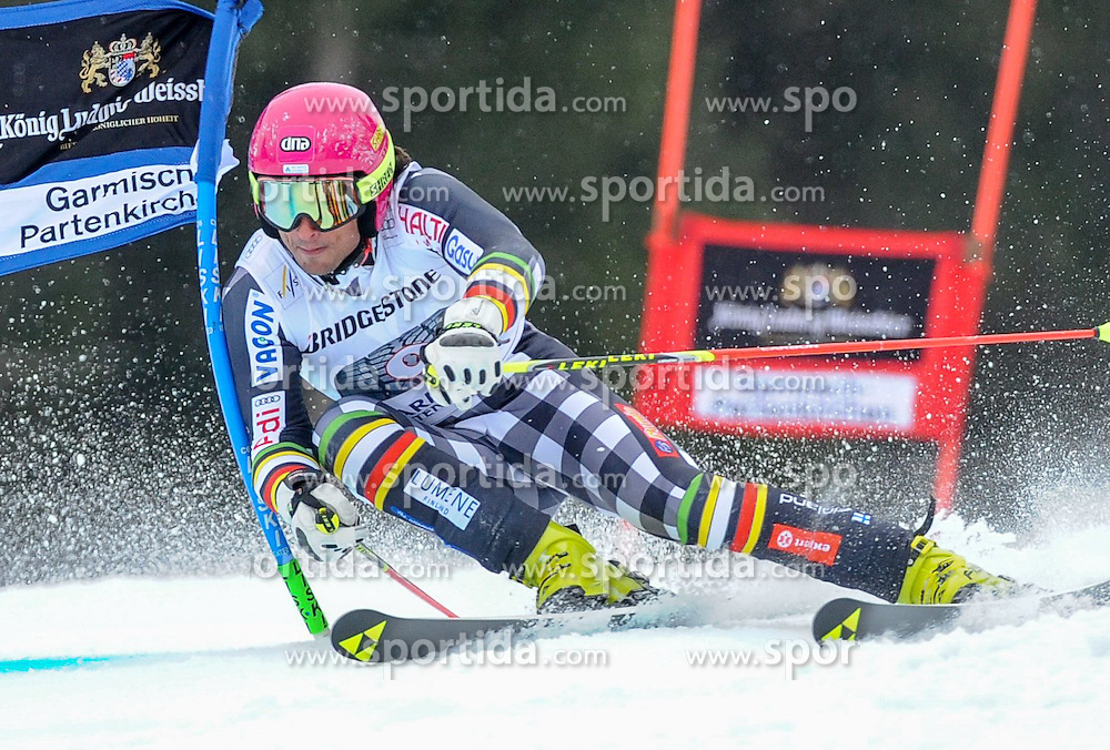 01.03.2015, Kandahar, Garmisch Partenkirchen, GER, FIS Weltcup Ski Alpin, Garmisch Partenkirchen, Riesenslalom, Herren, 1. Lauf, im Bild Marcus Sandell (FIN) // Marcus Sandell of Finland in action during 1st run for the men's Giant Slalom of the FIS Ski Alpine World Cup at the Kandahar in Garmisch Partenkirchen, Germany on 2015/03/01. EXPA Pictures © 2015, PhotoCredit: EXPA/ Erich Spiess