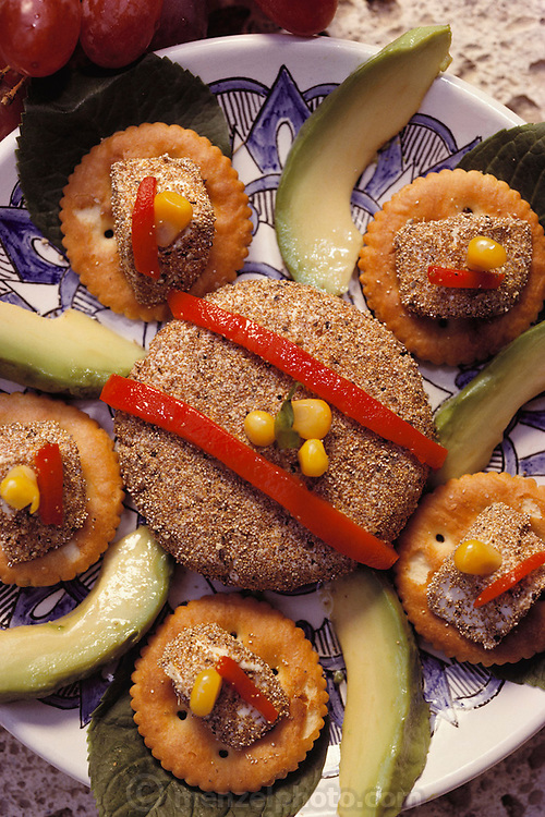 """""""Ahuautle Amona"""": cream cheese cakes coated with ahuauatles (fly larvae from Lake Texcoco)) prepared by Julieta Ramos-Elorduy, an entomologist in her Mexico City kitchen. She created a cookbook of recipes using insects. Mexico City, Mexico. Image from the book project Man Eating Bugs: The Art and Science of Eating Insects."""