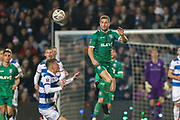 Sheffield Wednesday defender Sam Hutchinson (23) heads clear during the The FA Cup match between Queens Park Rangers and Sheffield Wednesday at the Kiyan Prince Foundation Stadium, London, England on 24 January 2020.