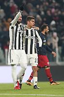 20.12.2017 - Torino - Tim Cup - Coppa Italia   -  Juventus-Genoa nella  foto: Gonzalo Higuain e Paulo Dybala  esultano dopo il gol del 2 a 0