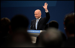 Foreign Secretary William Hague delivering his speech on day one of the Conservative Party Conference in Manchester, United Kingdom. Sunday, 29th September 2013. Picture by Andrew Parsons / i-Images