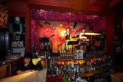 Sanlitun bar street nightlife district. Live music at Lan Gui Fang Bar.